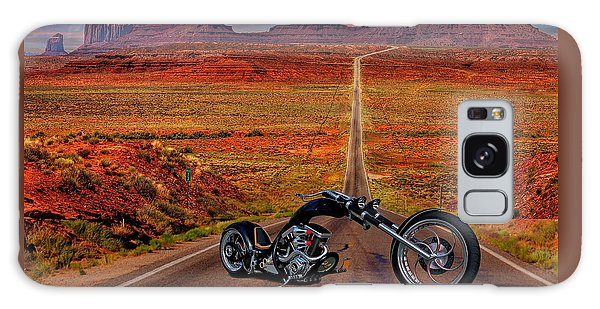 Black Chopper At Monument Valley Galaxy Case