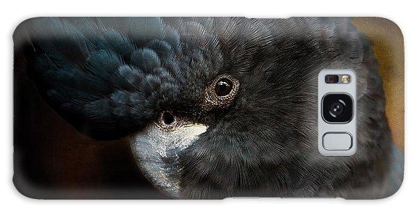 Black Cockatoo Galaxy Case