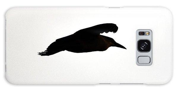 Black-crowned Night Heron Silhouette Galaxy Case