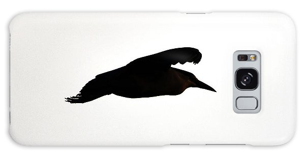 Galaxy Case featuring the photograph Black-crowned Night Heron Silhouette by Ken Stampfer