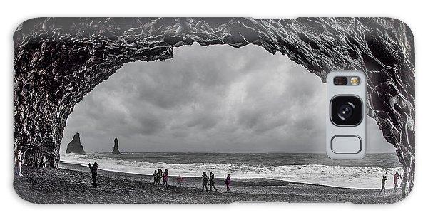 Galaxy Case featuring the photograph Black Diamond Beach, Iceland by Pradeep Raja PRINTS