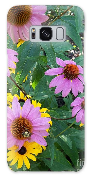 Black Eye Susans And Echinacea Galaxy Case by Eric  Schiabor