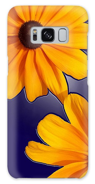 Black-eyed Susans On Blue Galaxy Case