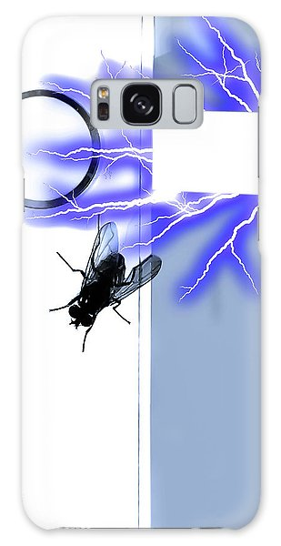 Black Fly On Tablet Galaxy Case