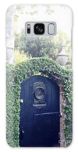 Black Garden Door Galaxy Case by Heather Green