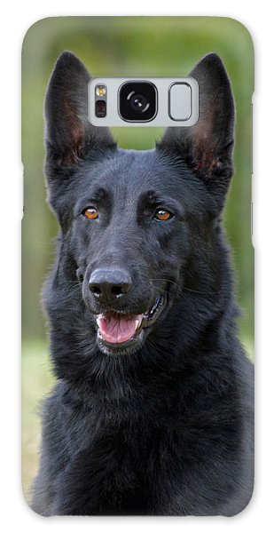 Black German Shepherd Dog Galaxy Case
