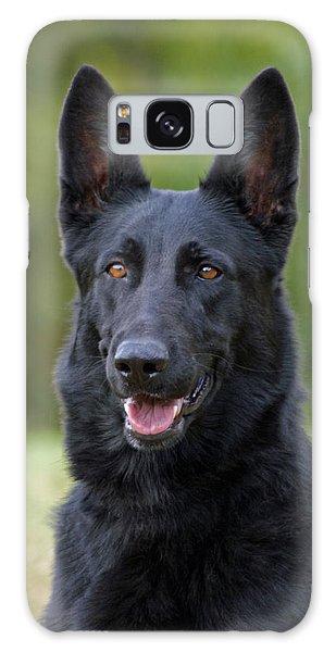 Black German Shepherd Dog Galaxy Case