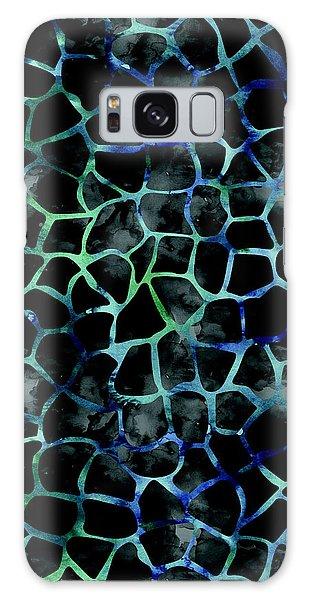 Black Giraffe Print Galaxy Case
