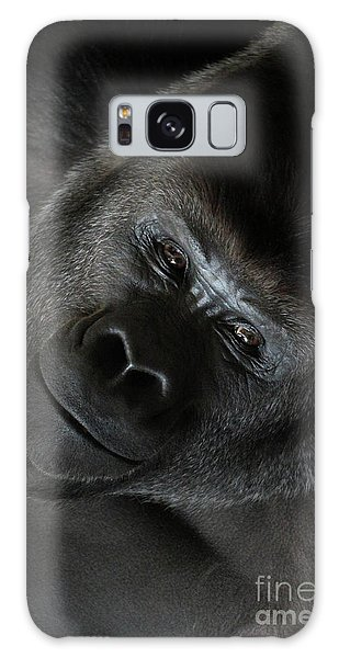 Black Gorilla Smile Galaxy Case