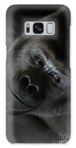 Black Gorilla Smile Galaxy Case