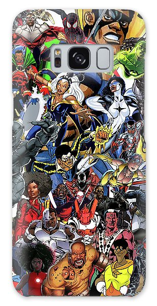 Strange Galaxy Case - Black Heroes Matter by Nic The Artist