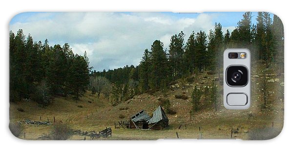Black Hills Broken Down Cabin Galaxy Case