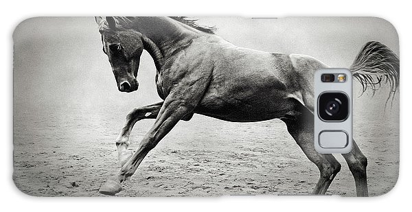 Black Horse In Dust Galaxy Case