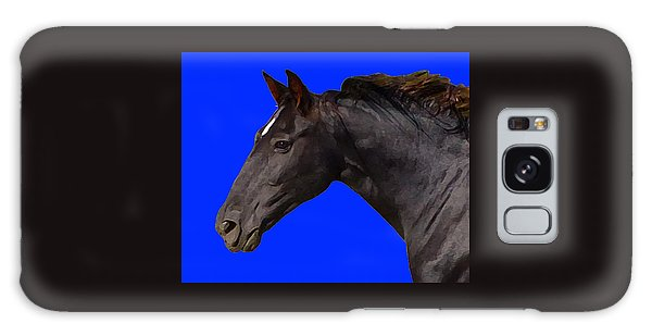 Black Horse Spirit Blue Galaxy Case