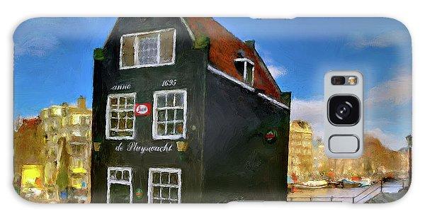 Black House In Jodenbreestraat #1. Amsterdam Galaxy Case