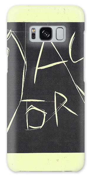 Black Ivory Title Page Galaxy Case