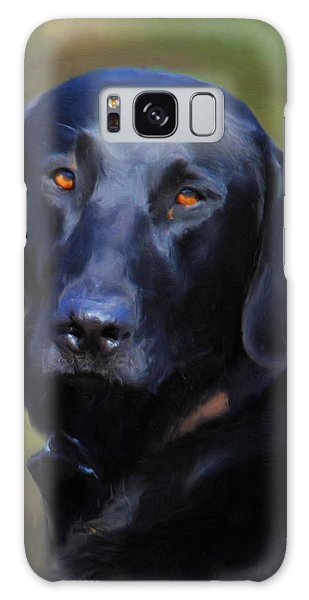Black Lab Portrait Galaxy Case