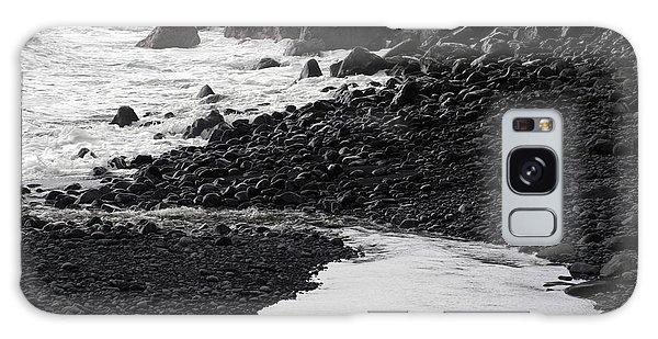 Black Lava Beach, Maui Galaxy Case