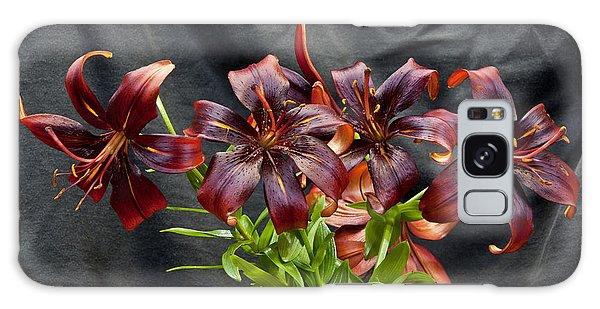 Black Lilies Galaxy Case