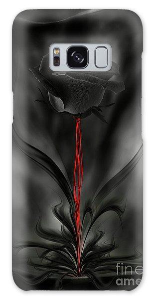 Black Magic Rose Galaxy Case