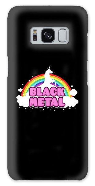 Black Metal Funny Unicorn / Rainbow Mosh Parody Design Galaxy Case