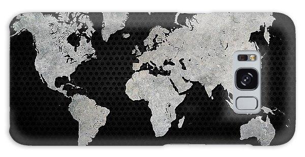 Black Metal Industrial World Map Galaxy Case by Douglas Pittman