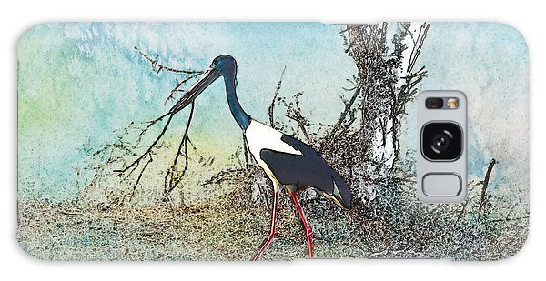 Black Neck Stork  Galaxy Case
