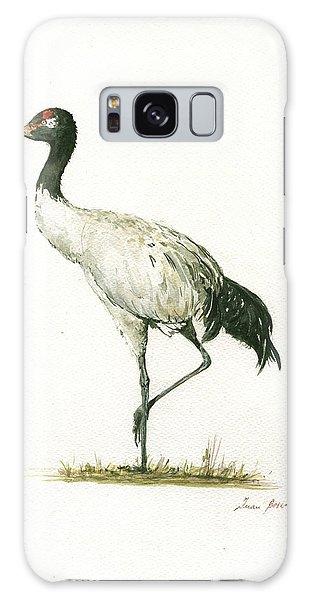 Crane Galaxy S8 Case - Black Necked Crane by Juan Bosco