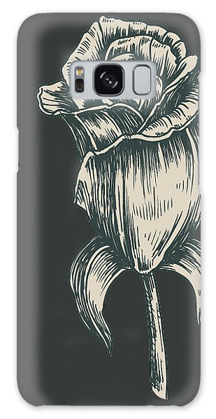 Galaxy Case featuring the digital art Black On Black by ReInVintaged