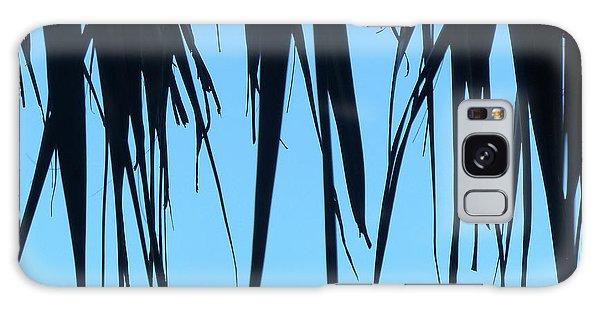 Black Palms On Blue Sky Galaxy Case