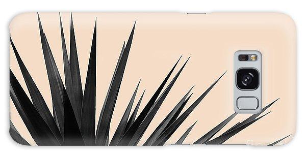 Black Palms On Pale Pink Galaxy Case