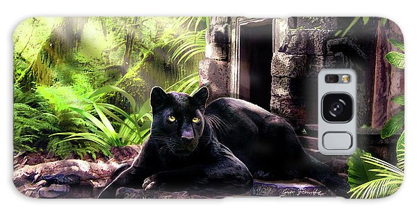 Panther Galaxy S8 Case - Black Panther Custodian Of Ancient Temple Ruins  by Regina Femrite