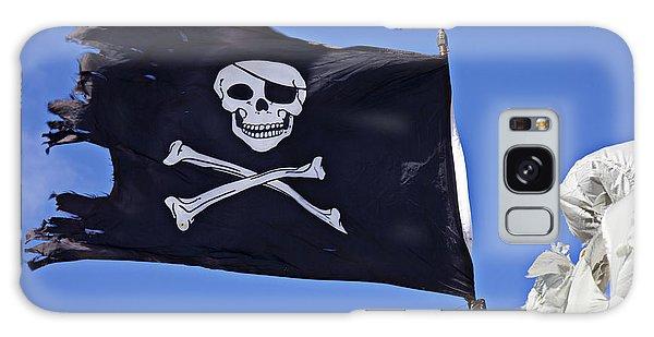 Sly Galaxy Case - Black Pirate Flag  by Garry Gay