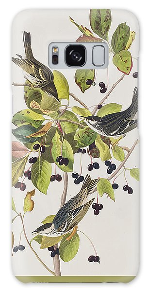Black Poll Warbler Galaxy Case by John James Audubon