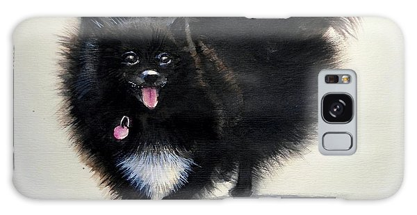 Black Pomeranian Dog 3 Galaxy Case