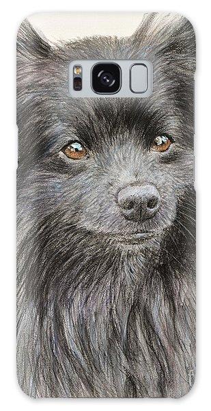 Black Pomeranian Painting Galaxy Case