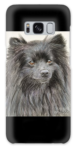 Black Pomeranian Painting Galaxy Case