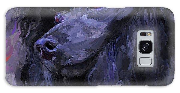 Black Poodle - Square Galaxy Case