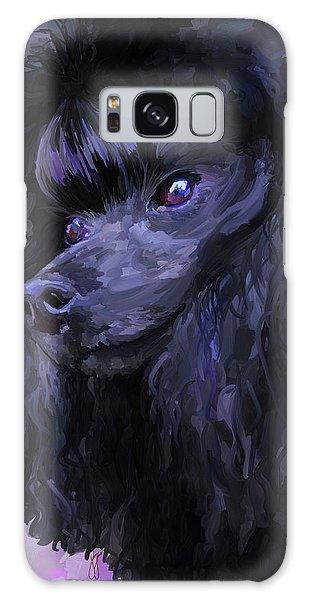 Black Poodle Galaxy Case