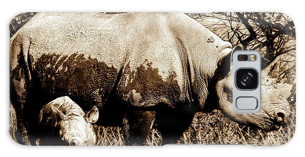 Black Rhino And Youngster Galaxy Case