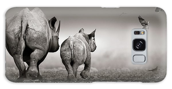 Dove Galaxy S8 Case - Black Rhino Cow With Calf  by Johan Swanepoel