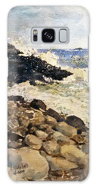 Black Rocks - Lake Superior Galaxy Case