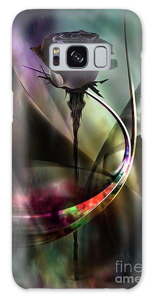 Black Rose In Color Symphony Galaxy Case