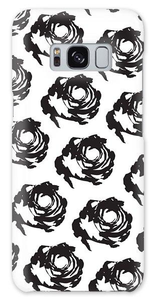 Black Rose Pattern Galaxy Case