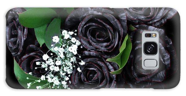 Black Roses Bouquet Galaxy Case