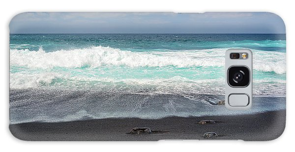 Black Sand Beach Galaxy Case by Delphimages Photo Creations