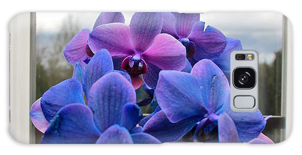 Galaxy Case featuring the photograph Black Sapphire Orchids  by Aaron Berg