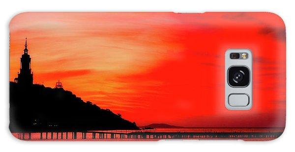 Black Sea Turned Red Galaxy Case by Reksik004