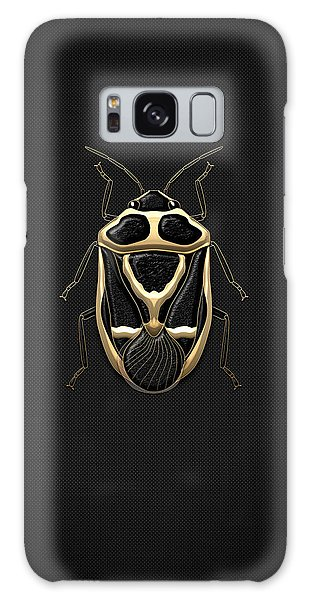 Black Shieldbug With Gold Accents  Galaxy Case