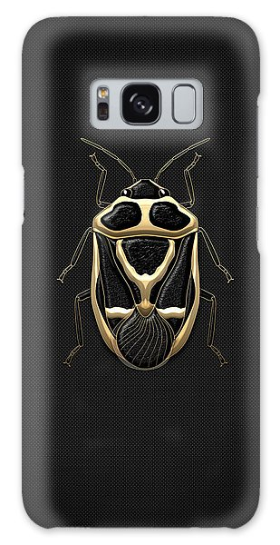 Pop Art Galaxy Case - Black Shieldbug With Gold Accents  by Serge Averbukh
